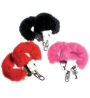 fausses menottes fourrure, accessoire sexy déguisement, accessoire prisonnier déguisement, accessoire déguisement police, menottes accessoire déguisement, accessoire déguisement menottes Menottes Métal et Fourrure