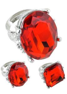 bague fausse pierre précieuse, bague de déguisement, bague de fête pas cher, bague de cardinal, bague faux diamant, grosse bague pas cher, bagues avec fausses pierres, Bague Fashion Ring, Rouge