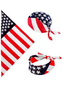 bandana américain, bandana états unis, accessoire américain, soirée américaine, drapeau américain, foulard américain, Bandana Américain, Drapeau des Etats Unis