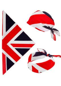 bandana union jack, bandana angleterre, bandana royaume uni, drapeau royaume uni, drapeau union jack, accessoire thème angleterre, bandana anglais, Bandana Royaume Uni