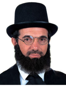fausse barbe, fausses moustaches, postiche, barbe postiche, fausse barbe réaliste, fausse barbe de déguisement, Barbe Slim, Noire