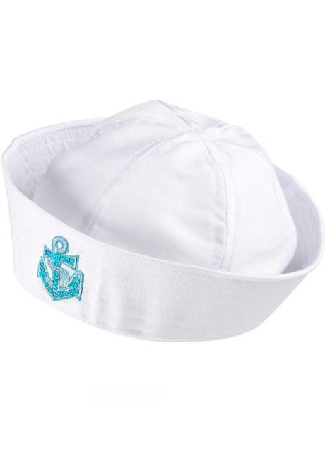 bob de marin, bob marin, chapeau de marin, bob de matelot, accessoire déguisement de marin, Bob Marin, Ancre Bleu Ciel Glitter