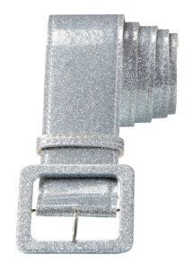 ceinture paillette, ceinture déguisement, ceinture disco, accessoire disco, ceinture argent, Ceinture Brillante, Argent