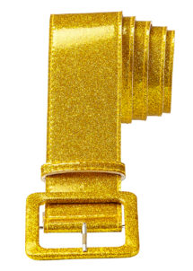 ceinture paillette, ceinture déguisement, ceinture disco, accessoire disco, ceinture dorée, Ceinture Brillante, Dorée