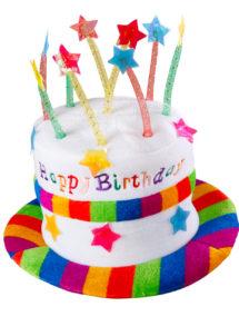 chapeau anniversaire, chapeau gâteau d'anniversaire, accessoire pour anniversaire, chapeau bougies, Chapeau Anniversaire avec Bougies
