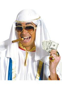chapeau d'émir arabe, chapeau de cheik arabe, chapeau oriental, coiffe laurence d'Arabie, coiffe arabe, Chapeau d'Emir, Blanc