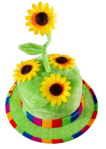 chapeau tournesol, chapeau fleurs, chapeau humour, chapeau de jardinier,, Chapeau Fleurs de Tournesol