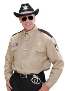 déguisement policier américain, déguisement sherif homme, déguisement sherif adulte, costume sherif adulte, déguisement sherif américain, Déguisement de Police, Chemise de Sheriff