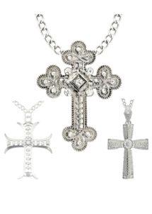 pendentif croix de bonne soeur, collier de déguisement, accessoires de déguisement, collier croix déguisement, collier croix de déguisement, collier déguisement de bonne soeur, croix de nonne, chapelet de déguisement, accessoires de fête, Collier Croix sur Chaine