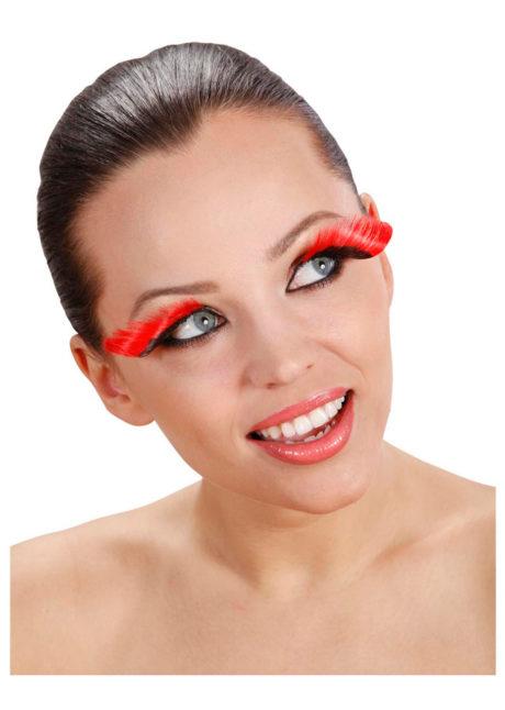 faux cils rouges et noirs, faux cils extra longs, faux cils très longs, maquillage faux cils, Faux Cils Extra Longs, Rouges et Noirs