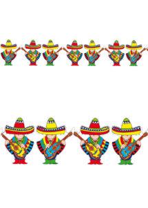 guirlande mexicaine, guirlande chanteurs mexicains, guirlandes sombreros, Guirlande Mexicaine, Ponchos et Sombreros