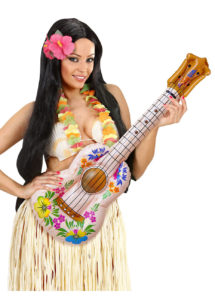 ukulele gonflable, accessoire hawaï déguisement, accessoire déguisement hawaï, accessoire instrument musique, faux instrument de musique, fausse guitare gonflable, fausse guitare déguisement, Ukulele Gonflable
