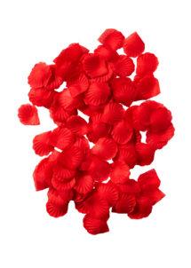 pétales de roses, pétales en tissu, pétales de décoration, Pétales de Roses en Tissu, Rouges
