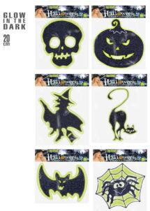 stickers halloween, décorations halloween, décos accessoire halloween, accessoire décos halloween, décorations stickers halloween, Stickers de Fenêtre, Halloween, Phosphorescent