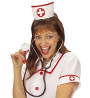 coiffe d'infirmière, accessoire déguisement, accessoire déguisement d'infirmière, déguisement infirmière, chapeau d'infirmière, coiffe d'infirmière croix rouge Coiffe d'Infirmière