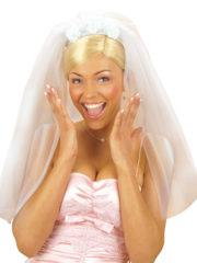 voile de mariée, accessoire déguisement, déguisement de mariée, accessoire voile, voile déguisement, enterrement de vie de jeune fille Voile de Mariée