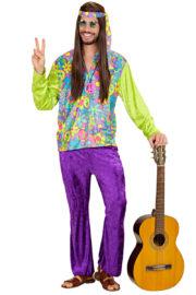 hippie déguisement, déguisement de hippie homme, costume hippie homme, déguisement hippie adulte, déguisement peace and love homme, déguisement années 70 homme, déguisement années 70 adulte Déguisement Hippie, Ensemble Velours