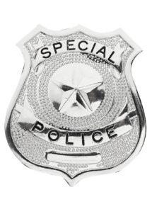 insigne de police, badge de police, insigne FBI, fausse plaque de police,, Badge Special Police, Argent