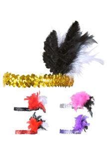 bandeau charleston, bandeau à plumes, accessoire déguisement, accessoire années 30, accessoire cabaret, bandeau charleston, bandeau années 30, bandeau années 20, déguisement charleston, accessoire déguisement charleston, Bandeau Charleston à Plumes