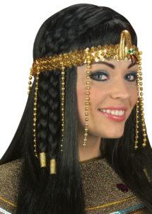 bandeau égyptien, accessoire déguisement, accessoire cléopatre, déguisement égyptienne, déguisement cléopatre, bandeau à perles, accessoire déguisement antiquité, Bandeau Egyptien, Or