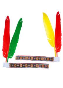 bandeau plume d'indien, accessoire déguisement indienne, bandeau indien à plume, accessoire déguisement, déguisement d'indien, déguisement d'indienne, plumes d'indien, coiffe indienne, Bandeau d'Indien à Plumes