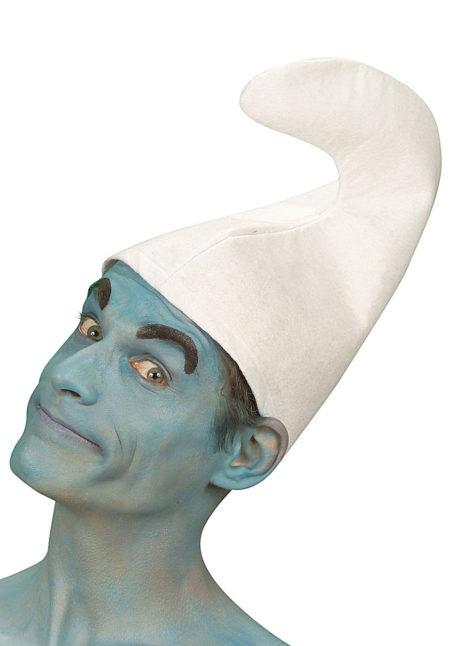 bonnet de schtroumpf, chapeau de schtroumpf, accessoire déguisement de nain, Bonnet de Nain, Blanc