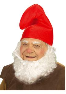 bonnet de schtroumpf, chapeau de schtroumpf, accessoire déguisement de nain, Bonnet de Nain, Rouge