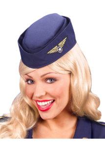 calot d'hôtesse de l'air, chapeau hôtesse de l'air, accessoire déguisement hôtesse de l'air, Calot d'Hôtesse de l'Air