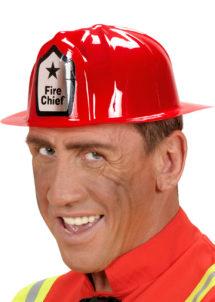 casque de pompier, casque de pompier en plastique, accessoires déguisement de pompier, Casque de Pompier, Fire Chief