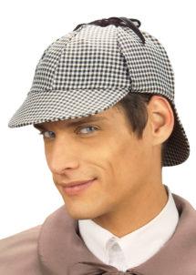 casquette sherlock holmes, accessoires déguisement sherlock holmes, accessoire déguisement cinéma, Casquette de Sherlock Holmes
