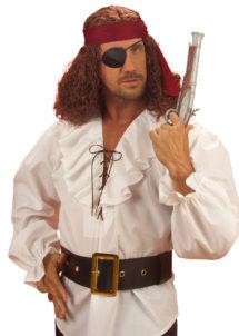 ceinture de pirate, ceinture de déguisement, ceinture déguisement, ceinture large déguisement, ceinture noire déguisement, ceinture pirate, accessoires déguisements, accessoire pirates, Ceinture de Pirate Noire, Boucle Dorée