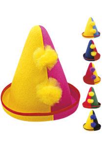 chapeau de clown, chapeau de clown pour enfant, chapeaux enfants, chapeau pointu de clown, Chapeau de Clown