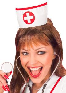 coiffe d'infirmière, accessoire déguisement, accessoire déguisement d'infirmière, déguisement infirmière, chapeau d'infirmière, coiffe d'infirmière croix rouge, Coiffe d'Infirmière