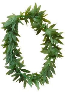 collier d'herbe, collier ganja, accessoire déguisement, accessoire rasta déguisement, accessoire déguisement rasta, Collier d'Herbe Ganja, Feuilles de Cannabis