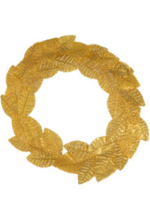 couronne de lauriers, couronne de lauriers romains, accessoire déguisement romains, accessoire déguisement jules césar, accessoire couronne de lauriers, Couronne de Lauriers, Or