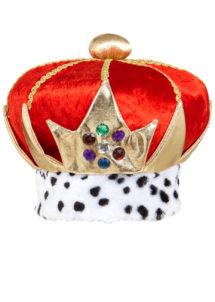 couronne royale, couronne de roi, chapeaux de roi, accessoires déguisement roi, couronne des rois, chapeau royal, Couronne Royale, Velours