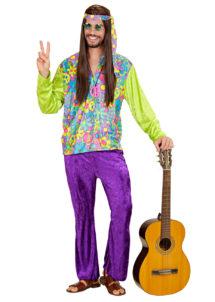 hippie déguisement, déguisement de hippie homme, costume hippie homme, déguisement hippie adulte, déguisement peace and love homme, déguisement années 70 homme, déguisement années 70 adulte, Déguisement Hippie, Ensemble Velours