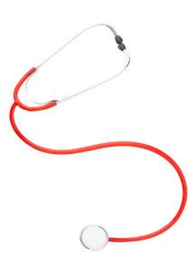 accessoire stéthoscope déguisement, accessoire infirmière déguisement, accessoire déguisement infirmière, faux stéthoscope déguisement, accessoire déguisement chirurgien,, Stéthoscope, Rouge et Argenté