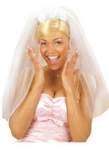voile de mariée, accessoire déguisement, déguisement de mariée, accessoire voile, voile déguisement, enterrement de vie de jeune fille, Voile de Mariée