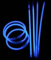 bracelets fluos, soirée fluo, accessoires fluos, batons fluos, Bracelets Fluos, x 100, Bleu