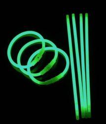 bracelets fluos, soirée fluo, accessoires fluos, batons fluos, Bracelets Fluos, x 100, Vert