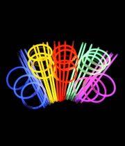 bracelets fluos, bracelets lumineux Bracelets Fluos, x 100, Multicolores