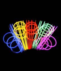 bracelets fluos, bracelets lumineux, Bracelets Fluos, x 100, Multicolores