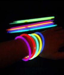 bracelets fluos, bracelets lumineux, Bracelets Fluos, x 15, Multicolores