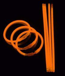 bracelets fluos, soirée fluo, accessoires fluos, batons fluos, Bracelets Fluos, x 100, Orange