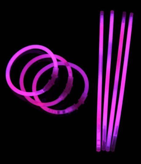 bracelets fluos, soirée fluo, accessoires fluos, batons fluos Bracelets Fluos, x 100, Rose