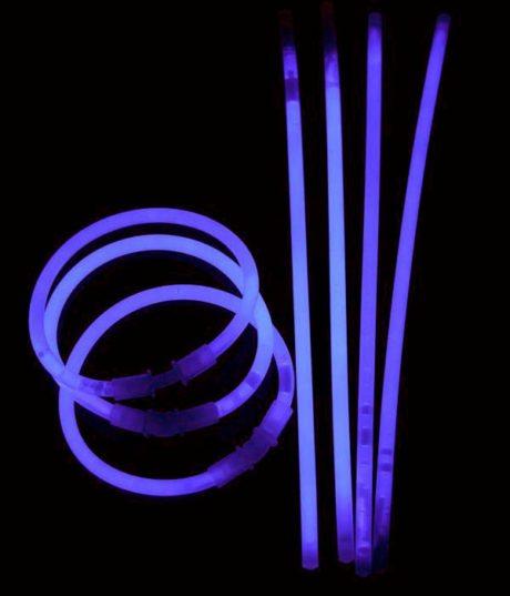 bracelets fluos, soirée fluo, accessoires fluos, batons fluos Bracelets Fluos, x 100, Violet
