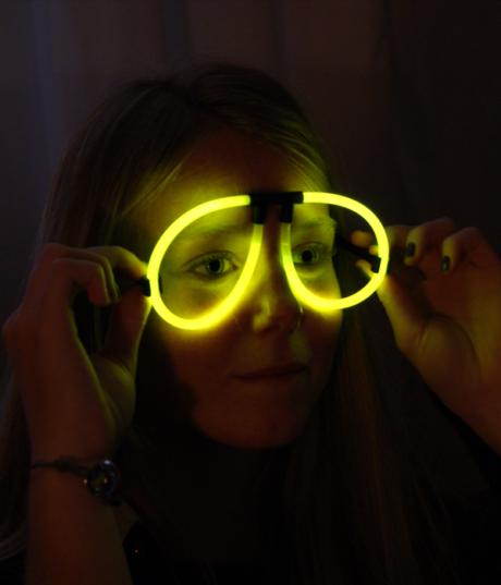 lunettes fluos, soirée fluo, accessoire fluo Lunettes Fluos, Aviateur, Jaune