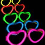 lunettes fluos, soirée fluo, accessoires fluos Lunettes Fluos, Coeurs