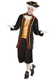 déguisement de marquis, costume de marquis, déguisement vénitien homme, déguisement venise homme, costume marquis adulte Déguisement de Marquis, Noble Vénitien Noir et Or